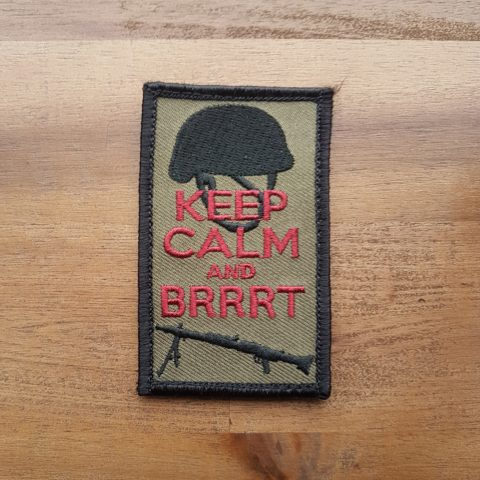 Patch Keep calm and Brrrt