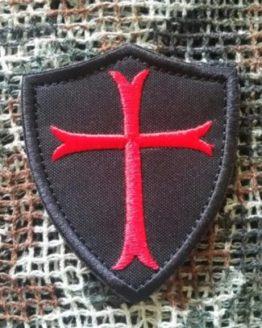 Patch Ritterorden Kreuzritter mit Klett