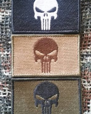 Patch Punisher 3er Set