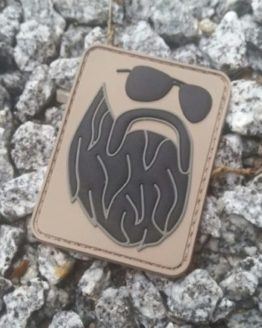Patch Bart mit Brille PVC mit Klett