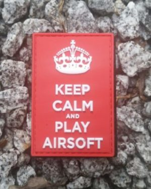Patch Keep Calm and Play Airsoft PVC mit Klett