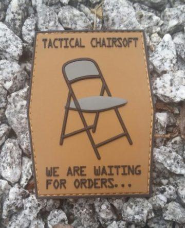 Patch Tactical Chairsoft PVC mit Klett