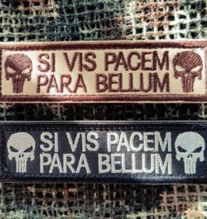 Punisher Patch Si Vis Pacem Para Bellum im Set