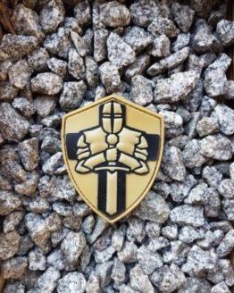 PVC Patch Ritterorden Kreuzritter Crusader Wappen coyote mit Klett