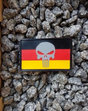 PVC Patch German Punisher Airsoft Patch mit Klett