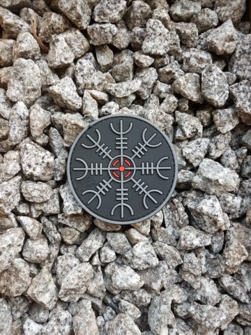 AIRSOFT PVC Patch - Helm of Awe Patch, blackops
