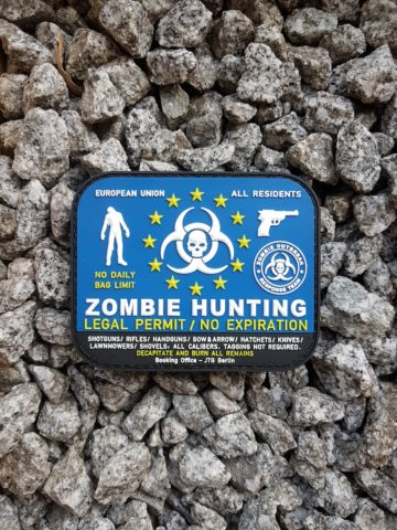 Zombie Hunting PVC Patch