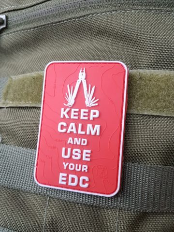 EDC PATCH - Keep Calm and use your EDC