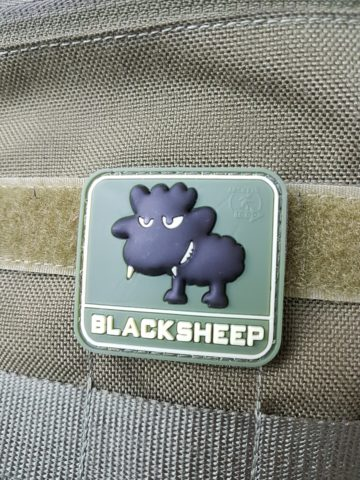 AIRSOFT PATCH - Little BlackSheep, forest