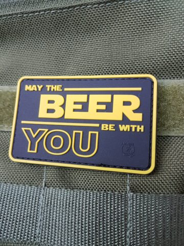 PVC Patch - May The BEER Be With YOU Patch