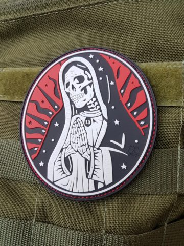 PVC PATCH - Santa Muerte, redsky