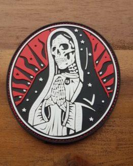 PVC PATCH – Santa Muerte, redsky