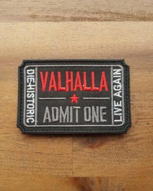 Walhalla Ticket Patch gestickt schwarz
