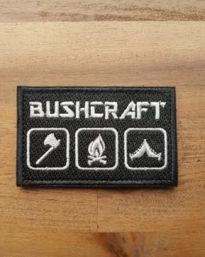 Bushcraft Patch schwarz