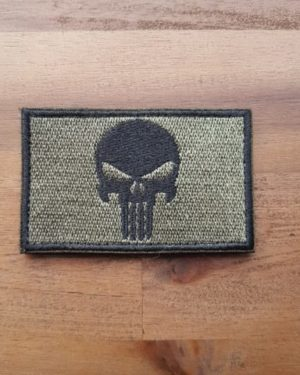 Punisher Patch oliv