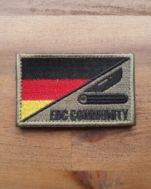 EDC Community Patch schwarz