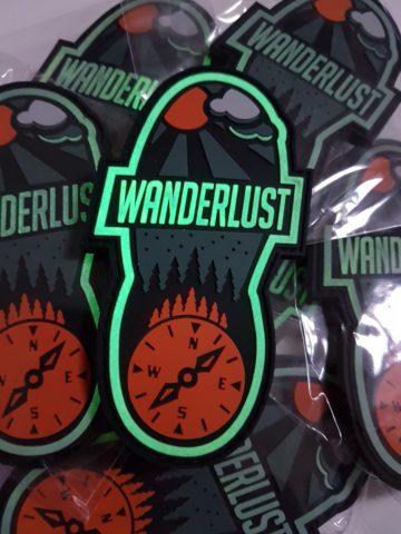 Wanderlust Patch - Glow in the Dark Bushcraft Outdoor Patch