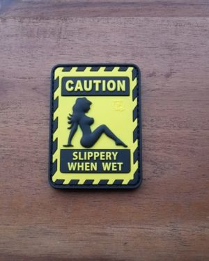 Airsoft Patch - SLIPPERY WHEN WET
