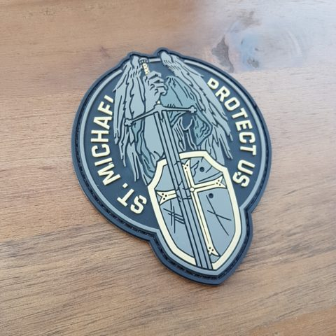 ST. MICHAEL - PROTECT US - SPECIAL / ELFENBEIN - PVC PATCH