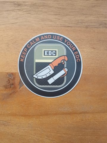 EDC Aufkleber