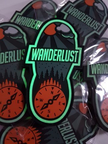 Wanderlust Patch - Glow in the Dark Bushcraft Outdoor Patch