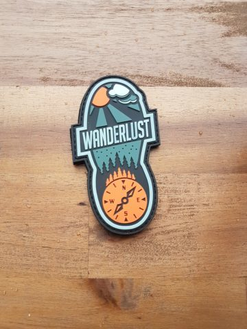 Wanderlust Patch PVC - Bushcarft Patch